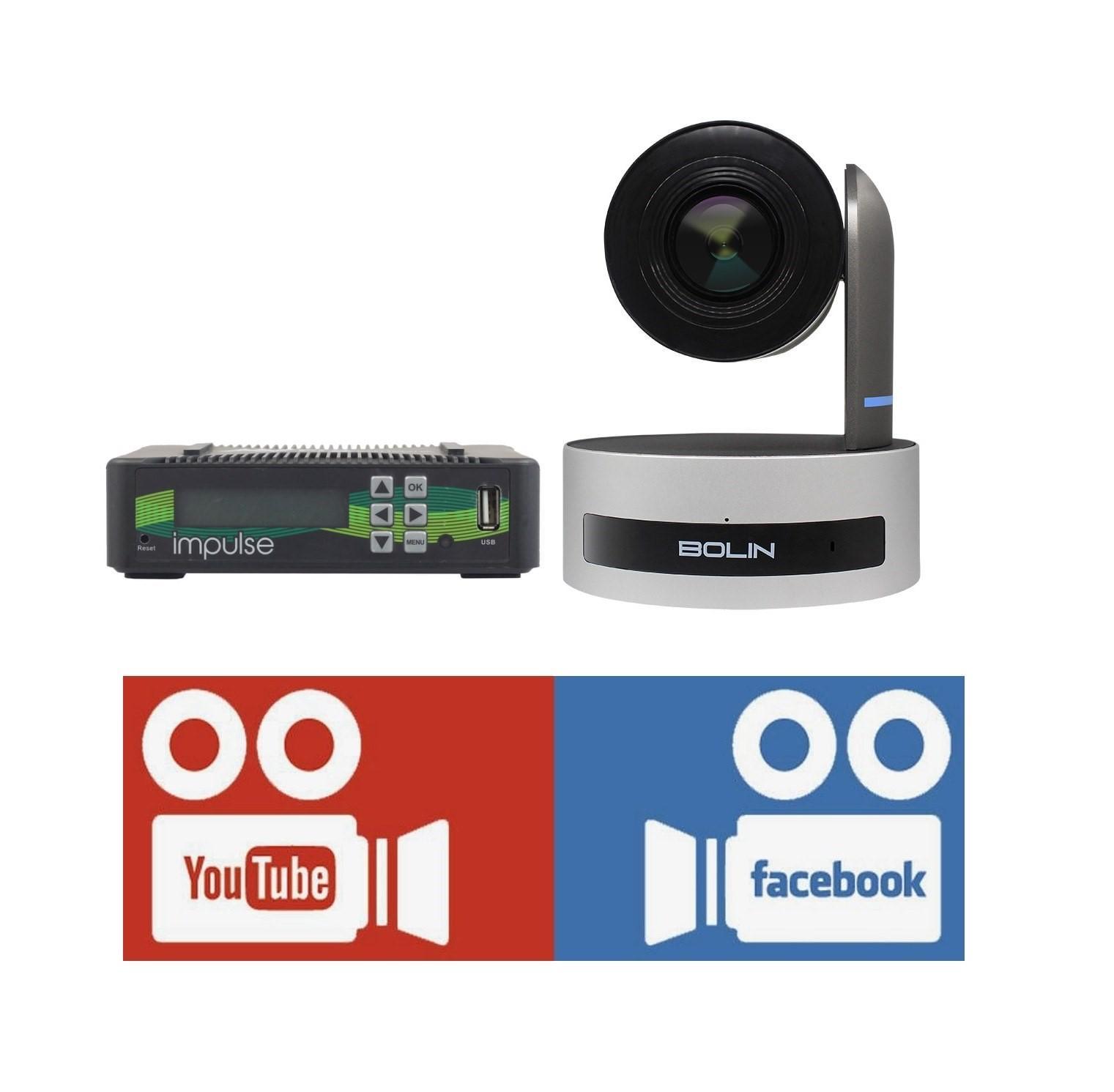 Broadcast Facebook, YouTube Live video via Bolin PTZ Camera and