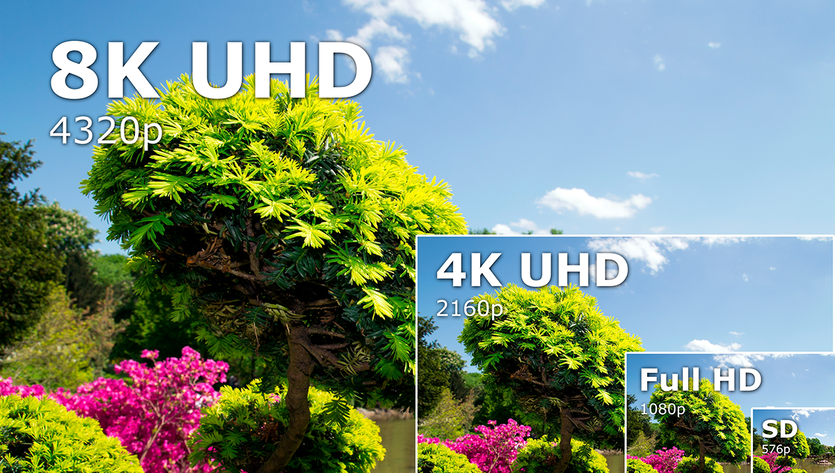 8K vs 4K resolution