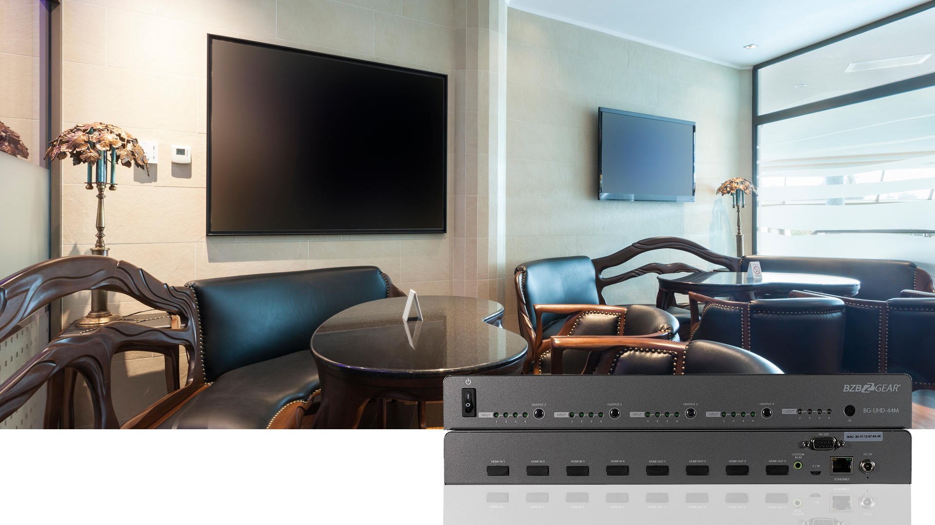 4x4 HDMI matrix switch