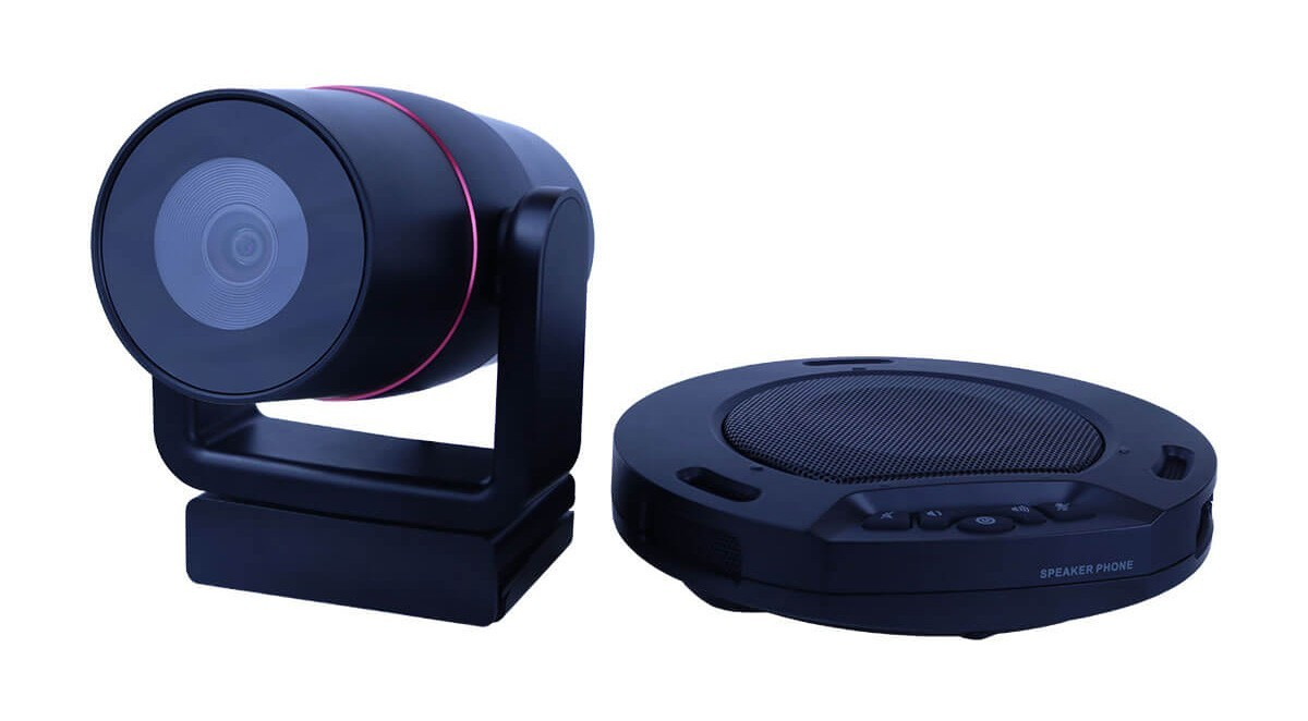 HuddlePair camera and speakerphone
