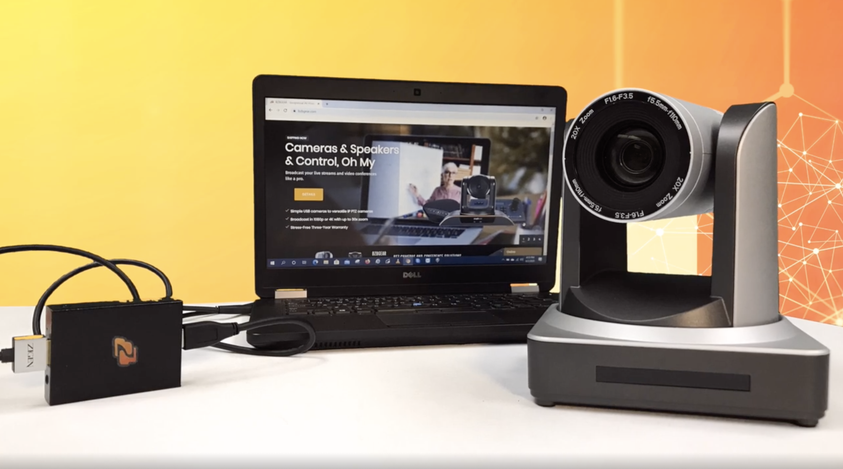 PTZ camera for live streaming
