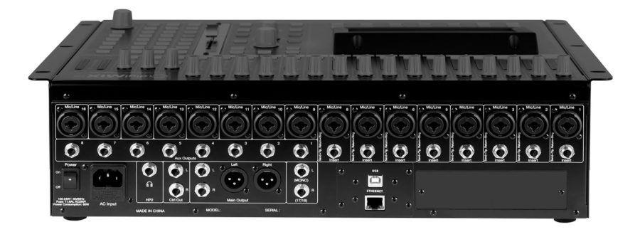 digimix18 digital mixer back panel