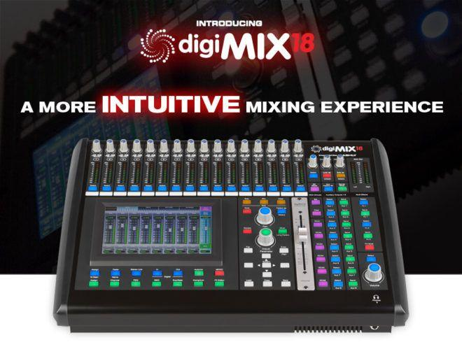 digiMIX18 digital mixer front panel main image