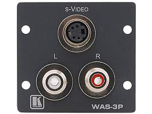 Kramer WAS-3P s-Video & Stereo Audio Wall Plate Insert